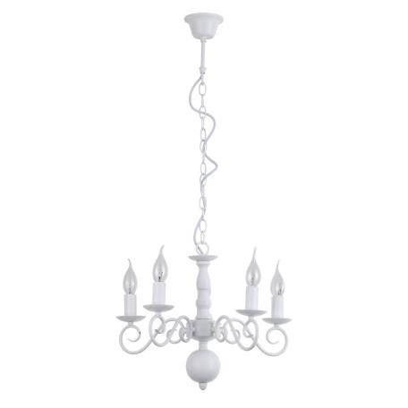 Подвесная люстра Arte Lamp Isabel A1129LM-5WH, 5xE14x40W, белый, металл - миниатюра 1