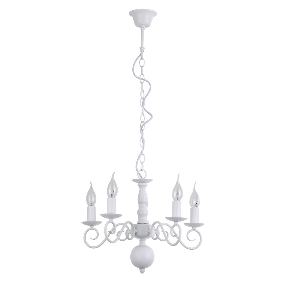 Подвесная люстра Arte Lamp Isabel A1129LM-5WH, 5xE14x40W, белый, металл - фото 1
