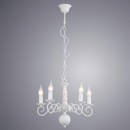 Подвесная люстра Arte Lamp Isabel A1129LM-5WH, 5xE14x40W, белый, металл - миниатюра 2