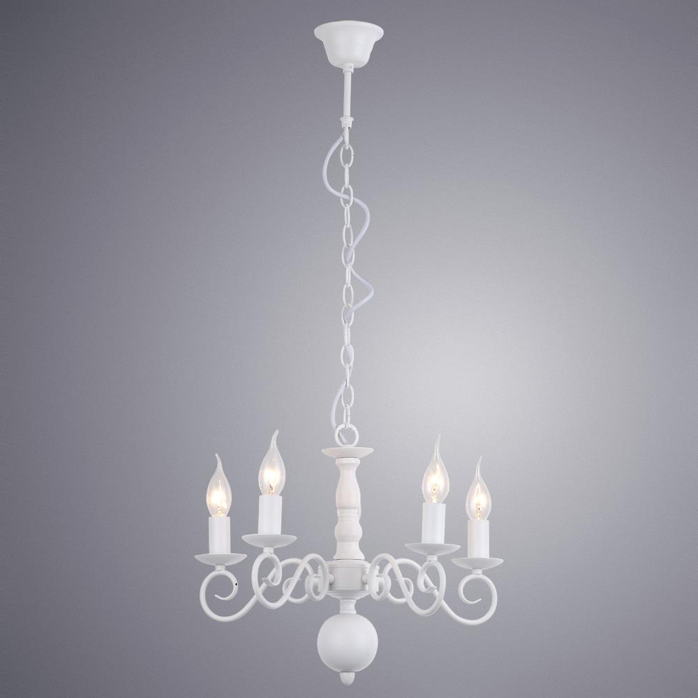 Подвесная люстра Arte Lamp Isabel A1129LM-5WH, 5xE14x40W, белый, металл - фото 2