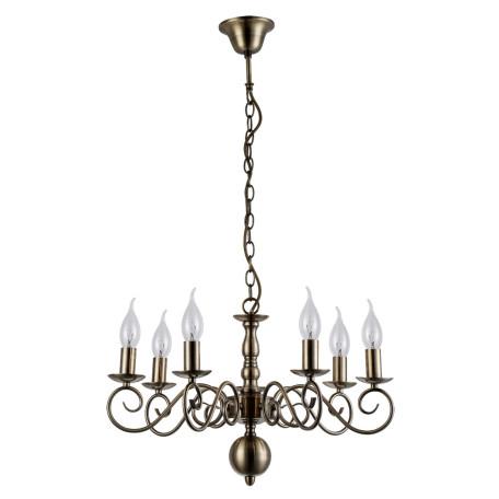 Подвесная люстра Arte Lamp Isabel A1129LM-7AB, 7xE14x40W, бронза, металл