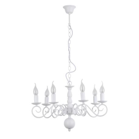 Подвесная люстра Arte Lamp Isabel A1129LM-7WH, 7xE14x40W, белый, металл