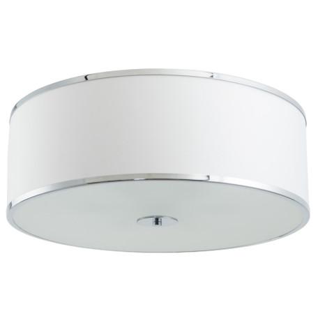 Потолочный светильник Arte Lamp Aurora A1150PL-6CC, 6xE27x60W, хром, белый, металл, текстиль, стекло