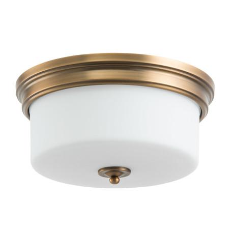 Потолочный светильник Arte Lamp Alonzo A1735PL-3SR, 3xE27x60W, латунь, белый, металл, стекло