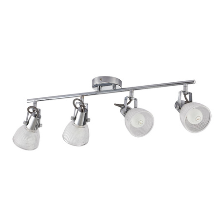 Потолочный светильник с регулировкой направления света Arte Lamp Ricardo A1026PL-4CC, 4xE14x40W, хром, прозрачный, металл, стекло