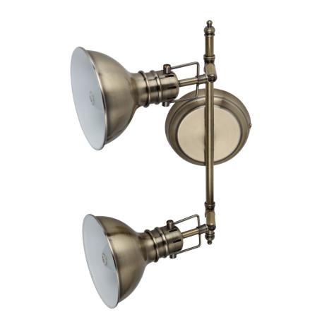 Потолочный светильник с регулировкой направления света Arte Lamp Mark A1102AP-2AB, 2xE14x40W, бронза, металл