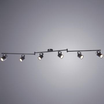 Потолочный светильник с регулировкой направления света Arte Lamp Lente A1310PL-6BK, 6xGU10x50W, черный, металл
