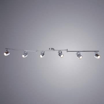 Потолочный светильник с регулировкой направления света Arte Lamp Lente A1310PL-6CC, 6xGU10x50W, хром, металл