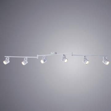 Потолочный светильник с регулировкой направления света Arte Lamp Lente A1310PL-6WH, 6xGU10x50W, белый, металл