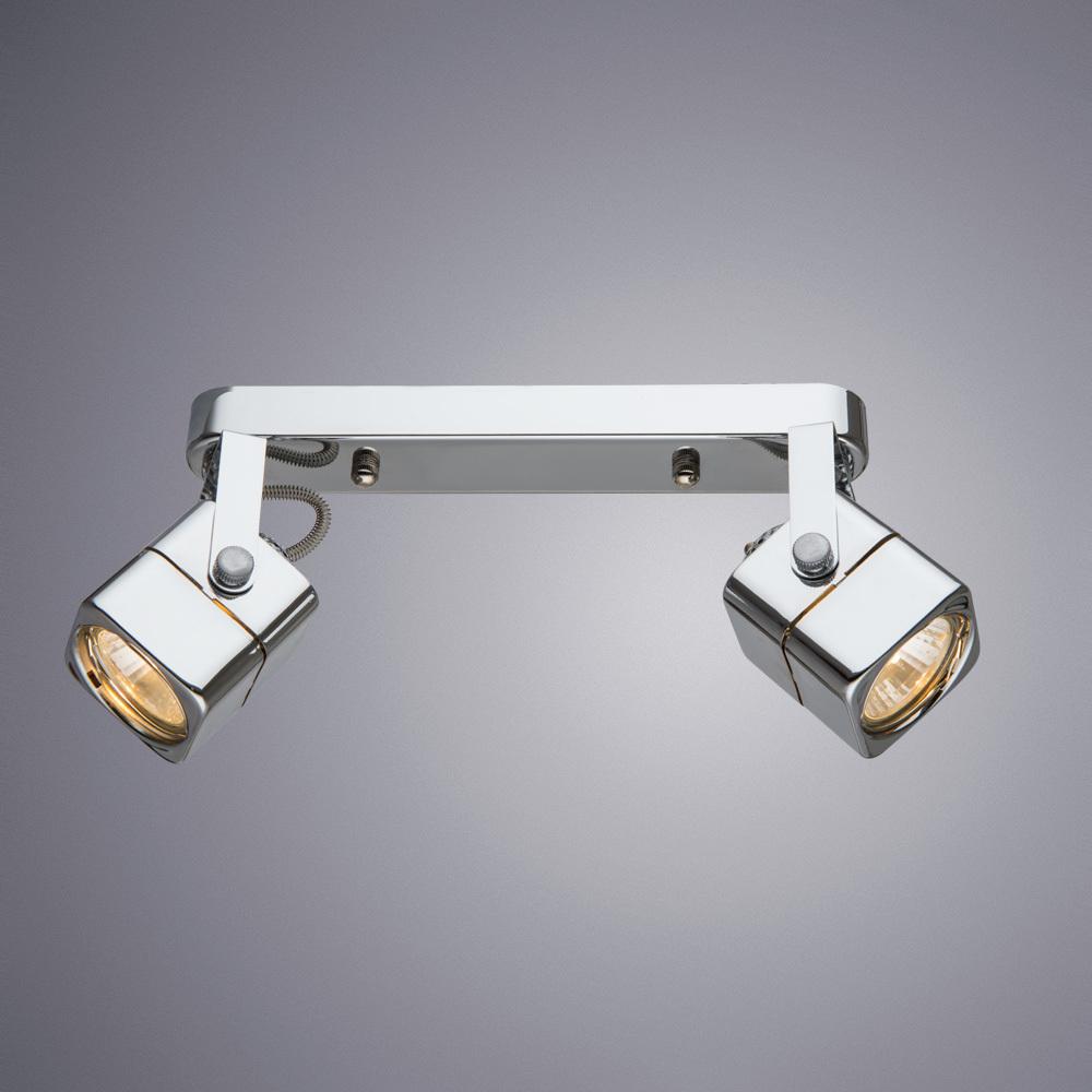 Потолочный светильник с регулировкой направления света Arte Lamp Lente A1314PL-2CC, 2xGU10x50W, хром, металл - фото 1