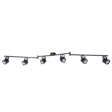 Потолочный светильник с регулировкой направления света Arte Lamp Lente A1314PL-6BK, 6xGU10x50W, черный, металл - миниатюра 2