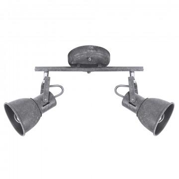 Потолочный светильник с регулировкой направления света Arte Lamp Jovi A1677PL-2GY, 2xE14x40W, серый, металл - миниатюра 1
