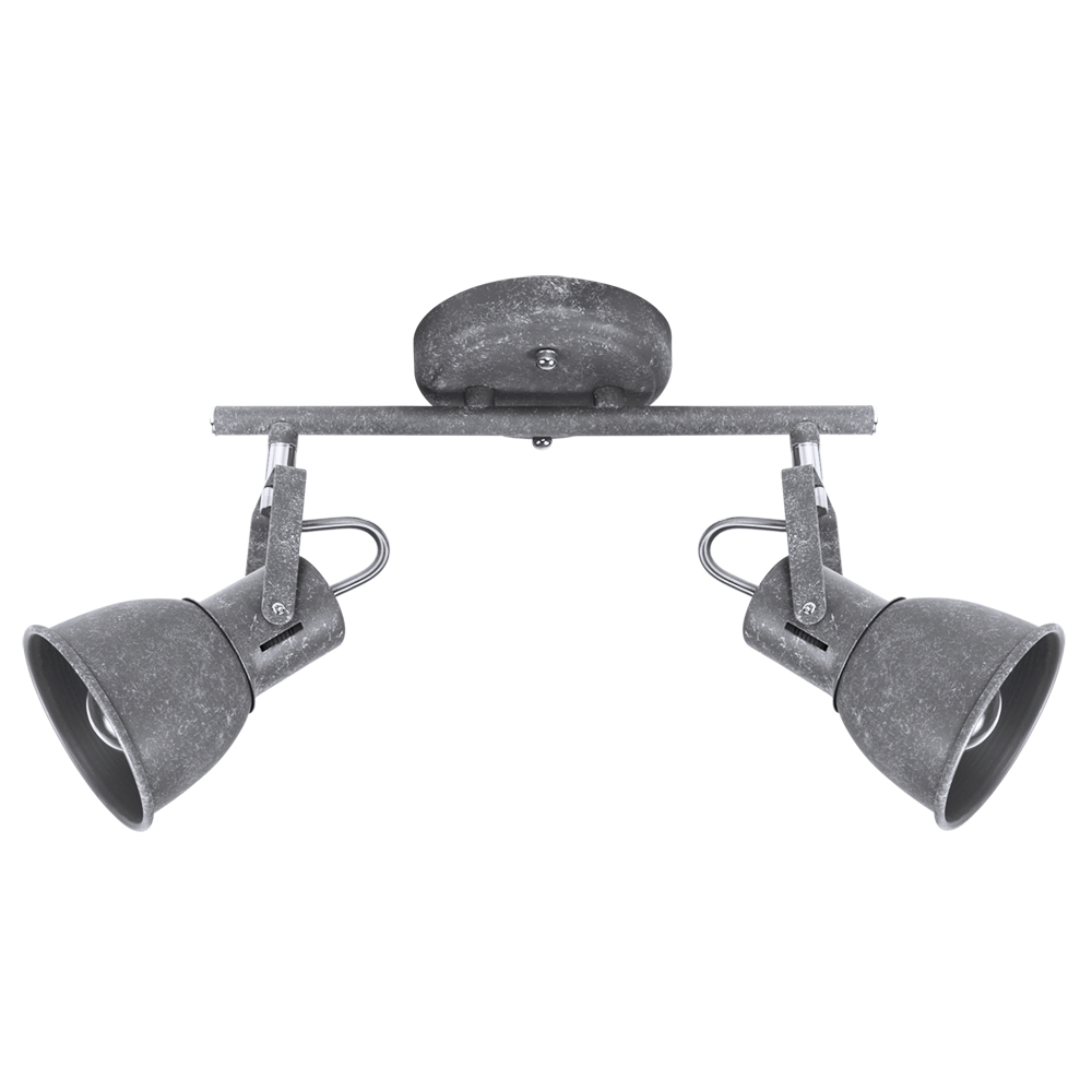 Потолочный светильник с регулировкой направления света Arte Lamp Jovi A1677PL-2GY, 2xE14x40W, серый, металл - фото 1