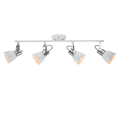 Потолочный светильник с регулировкой направления света Arte Lamp Jovi A1677PL-4WH, 4xE14x40W, белый, хром, металл