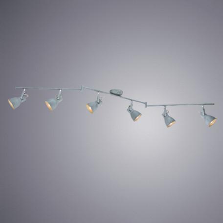 Потолочный светильник с регулировкой направления света Arte Lamp Jovi A1677PL-6GY, 6xE14x40W, серый, металл