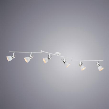 Потолочный светильник с регулировкой направления света Arte Lamp Jovi A1677PL-6WH, 6xE14x40W, белый, хром, металл