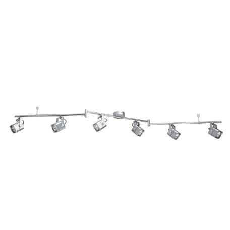 Потолочный светильник с регулировкой направления света Arte Lamp Lente A1314PL-6CC, 6xGU10x50W, хром, металл