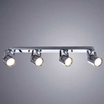 Потолочный светильник с регулировкой направления света Arte Lamp Lente A1310PL-4CC, 4xGU10x50W, хром, металл - миниатюра 1