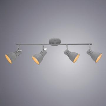 Потолочный светильник с регулировкой направления света Arte Lamp Jovi A1677PL-4GY, 4xE14x40W, серый, металл