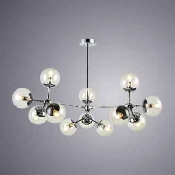 Подвесная люстра Arte Lamp Bolla A1664SP-12CC, 12xE14x60W, хром, прозрачный, металл, стекло