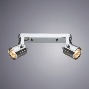 Потолочный светильник с регулировкой направления света Arte Lamp Lente A1310PL-2CC, 2xGU10x50W, хром, металл - миниатюра 1