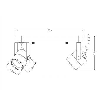 Потолочный светильник с регулировкой направления света Arte Lamp Lente A1310PL-2CC, 2xGU10x50W, хром, металл - миниатюра 3
