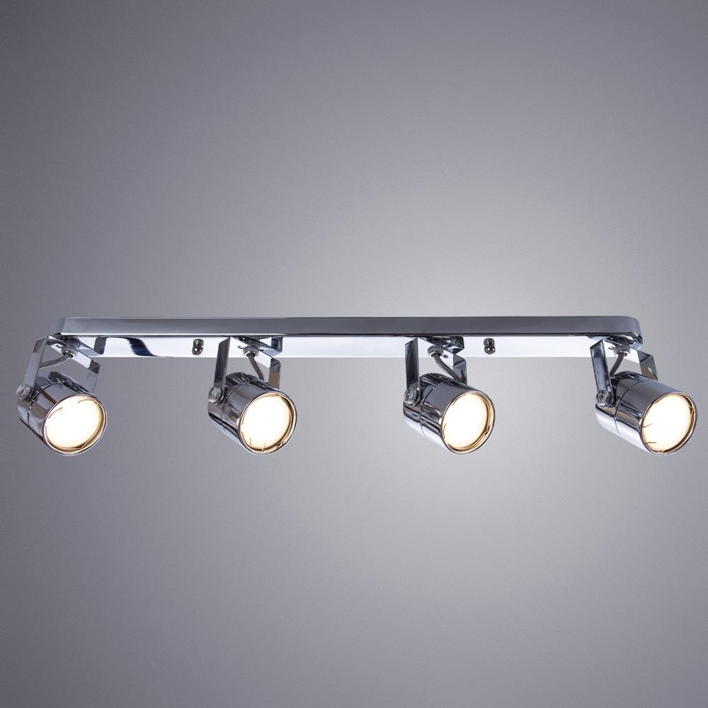 Потолочный светильник с регулировкой направления света Arte Lamp Lente A1310PL-4CC, 4xGU10x50W, хром, металл - фото 1
