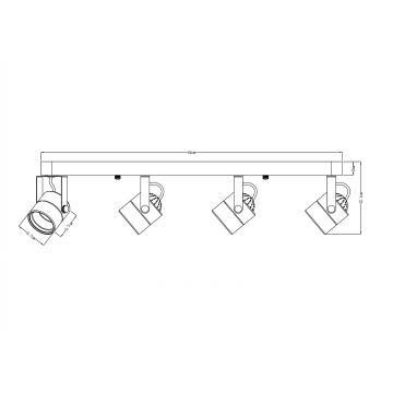 Потолочный светильник с регулировкой направления света Arte Lamp Lente A1310PL-4CC, 4xGU10x50W, хром, металл - миниатюра 4