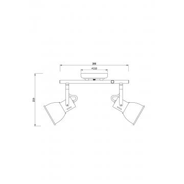 Потолочный светильник с регулировкой направления света Arte Lamp Jovi A1677PL-2BK, 2xE14x40W, черный, медь, металл - миниатюра 2