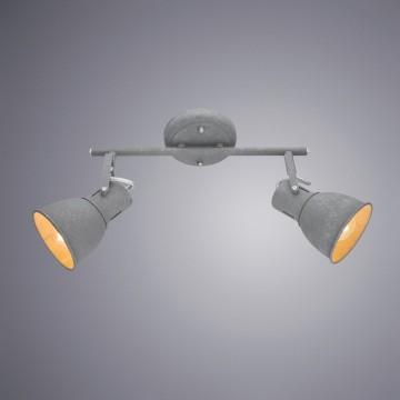 Потолочный светильник с регулировкой направления света Arte Lamp Jovi A1677PL-2GY, 2xE14x40W, серый, металл