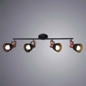 Потолочный светильник с регулировкой направления света Arte Lamp Jovi A1677PL-4BK, 4xE14x40W, черный, медь, металл