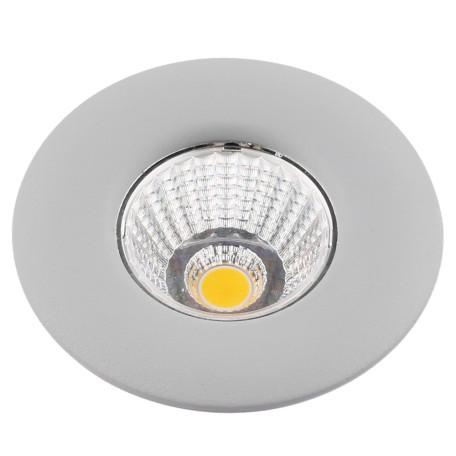 Встраиваемый светодиодный светильник Arte Lamp Instyle Uovo A1425PL-1GY, LED 5W 3000K 350lm CRI≥80, серый, металл