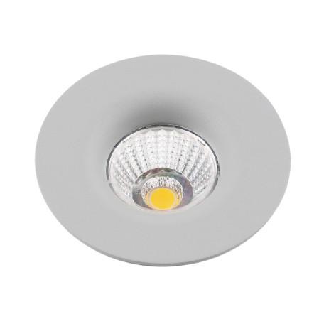Встраиваемый светодиодный светильник Arte Lamp Instyle Uovo A1427PL-1GY, LED 7W 3000K 500lm CRI≥80, серый, металл