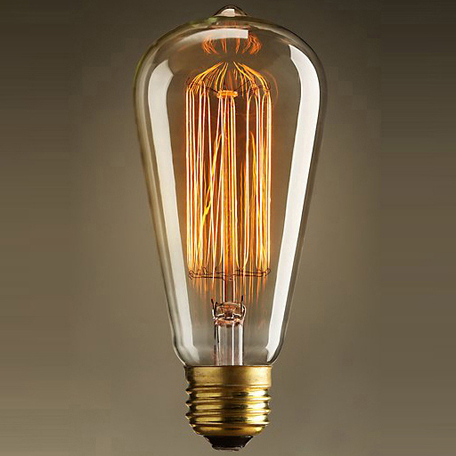 Лампа накаливания Voltega VG6-ST64A1-60W 5919 прямосторонняя груша E27 60W, 2800K (теплый)