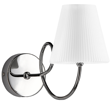 Бра Lightstar Vortico 814614, 1xG9x40W, хром, белый, металл, стекло