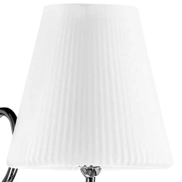 Бра Lightstar Vortico 814614, 1xG9x40W, хром, белый, металл, стекло - фото 2