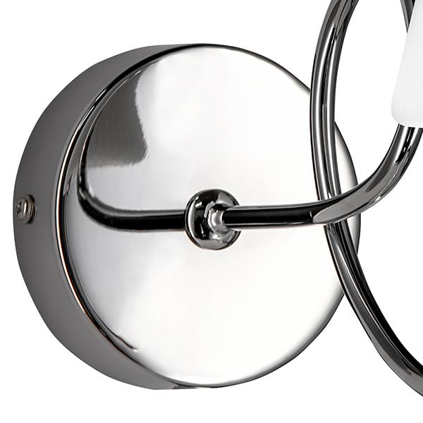 Бра Lightstar Vortico 814614, 1xG9x40W, хром, белый, металл, стекло - фото 3