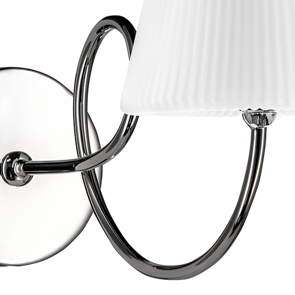 Бра Lightstar Vortico 814614, 1xG9x40W, хром, белый, металл, стекло - фото 4