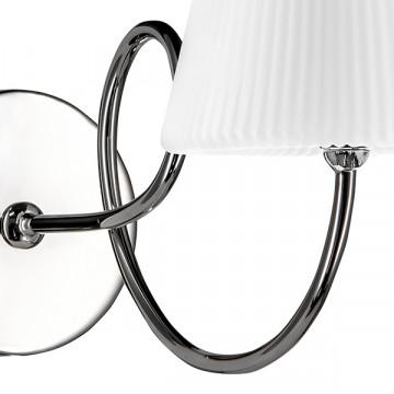 Бра Lightstar Vortico 814614, 1xG9x40W, хром, белый, металл, стекло - миниатюра 5