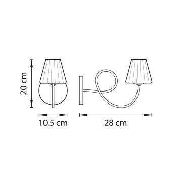 Схема с размерами Lightstar 814614