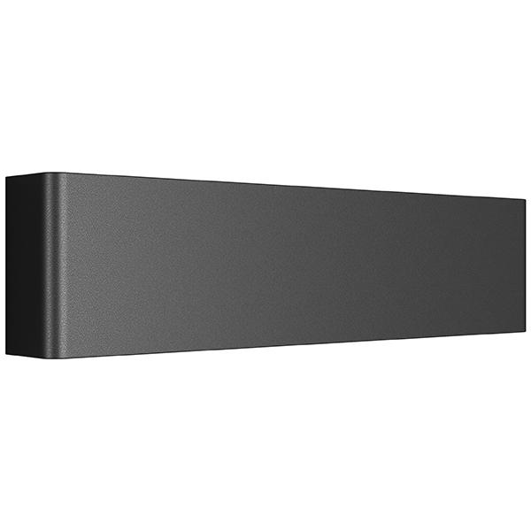 Настенный светодиодный светильник Lightstar Fiume 810517, LED 10W 3000K 950lm, черный, металл - фото 1