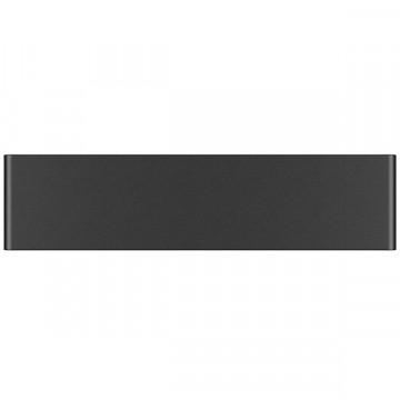 Настенный светодиодный светильник Lightstar Fiume 810517, LED 10W 3000K 950lm, черный, металл - миниатюра 2