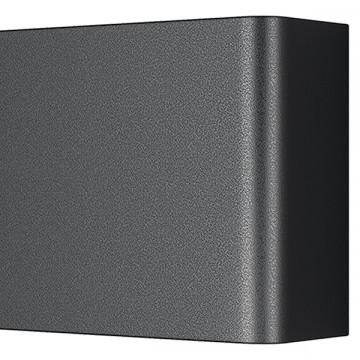 Настенный светодиодный светильник Lightstar Fiume 810517, LED 10W 3000K 950lm, черный, металл - миниатюра 3