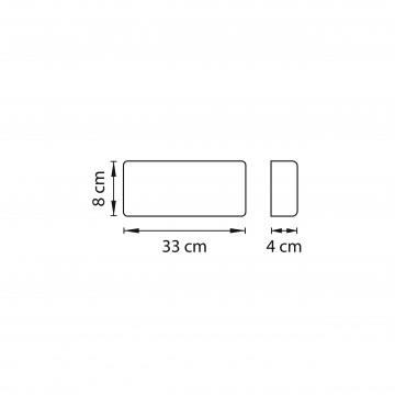 Схема с размерами Lightstar 810518