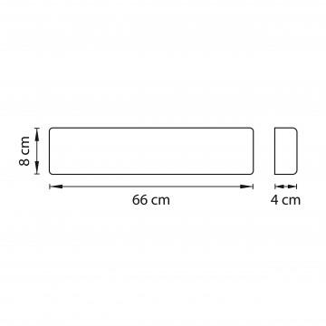 Схема с размерами Lightstar 810526