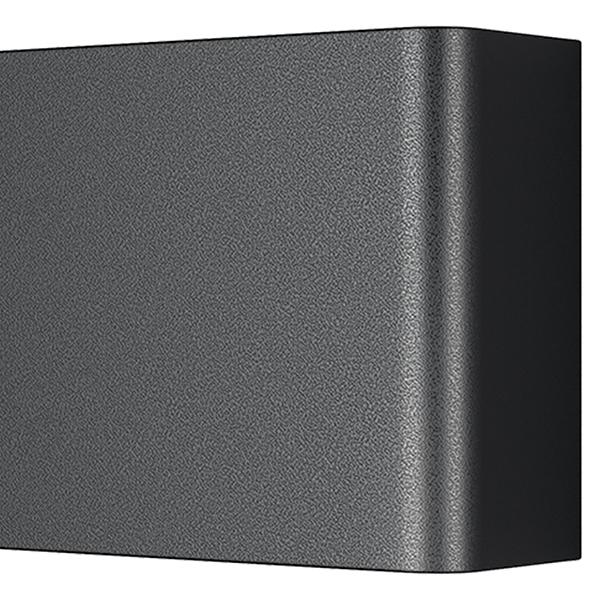 Настенный светодиодный светильник Lightstar Fiume 810527, LED 20W 3000K 1900lm, черный, металл - фото 3