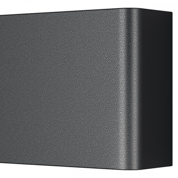 Настенный светодиодный светильник Lightstar Fiume 810537, LED 30W 3000K 2850lm, черный, металл - миниатюра 3