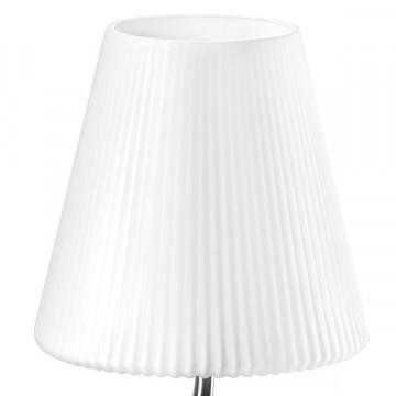 Настольная лампа Lightstar Vortico 814914, 1xG9x40W, хром, белый, металл, стекло - миниатюра 2
