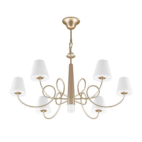 Подвесная люстра Lightstar Vortico 814273, 6xG9x40W +  1xG9x25W, янтарь, белый, металл, стекло