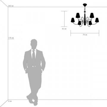 Схема с размерами Lightstar 814273